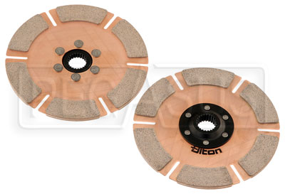 Large photo of Tilton OT-2 Twin Rally Clutch Discs (Cerametallic) Mitsu Evo, Pegasus Part No. TE 64185-7-AF-30H