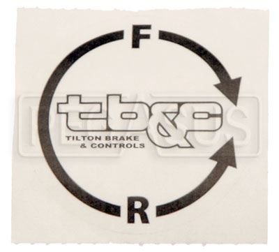 Large photo of Tilton Adjuster Cable Knob Decal, Clockwise, Pegasus Part No. TE 98-2282