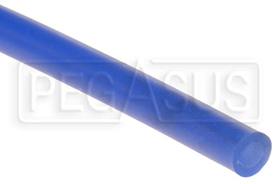 Large photo of Blue Silicone Vacuum Hose, 6mm (1/4