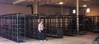 May 1990 - Getting ready to move in to our new building.