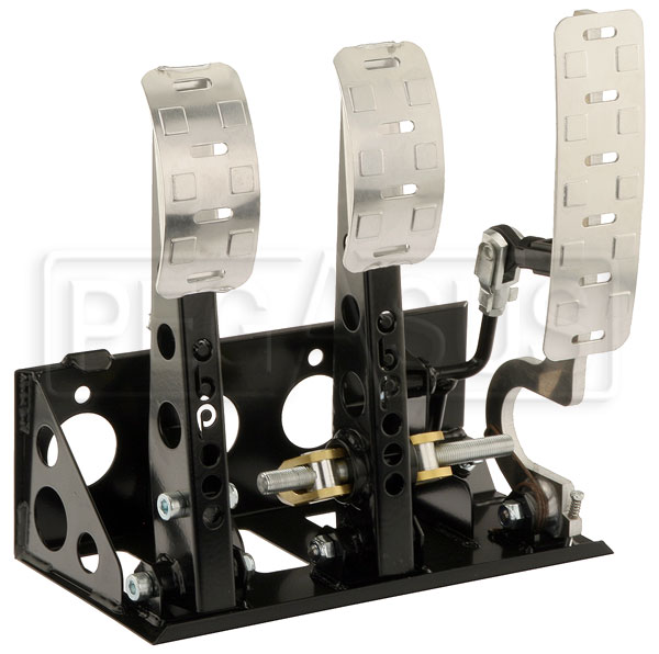 Large photo of OBP Pro-Race Floor Mount 3-Pedal Assembly, without MC, Pegasus Part No. OBP-0002PR