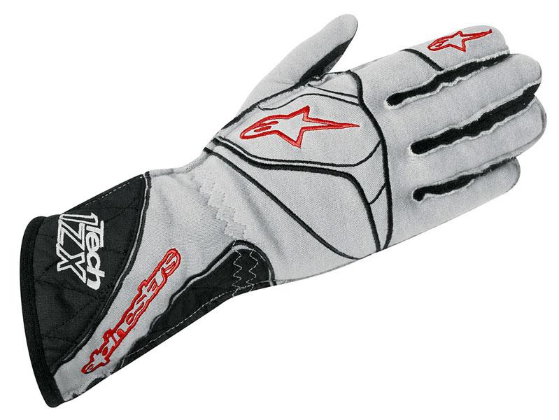 FIA ALPINESTARS Tech 1-ZX Gloves size S grey NOMEX RALLY RACING