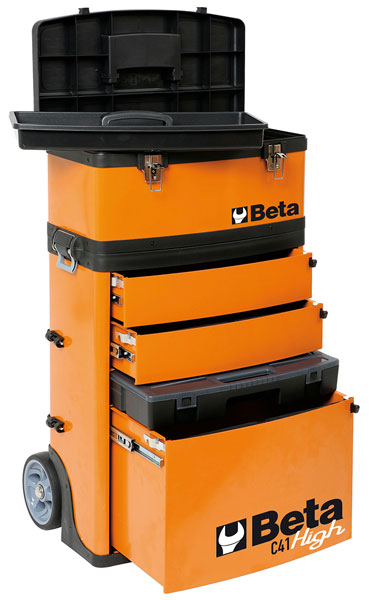 Large photo of Beta Tools C41H Two Module Tool Trolley, High, Pegasus Part No. BT-041000002