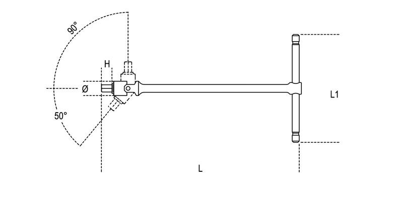 953 S9 9 Pc T Handle Swivel Hex Key Wrench Set Metric
