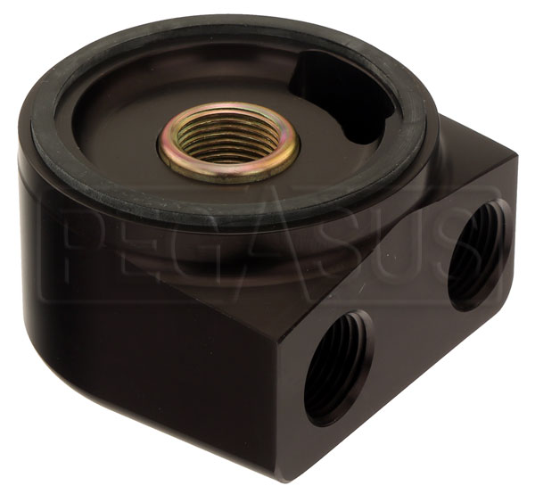 Large photo of Remote Oil Filter Adapter, 90 Deg Rotating, 20x1.5mm Thread, Pegasus Part No. CM 22-597
