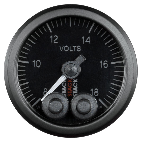 Large photo of Stack Pro-Control Battery Voltage Gauge, 8-18 Volt, Pegasus Part No. ST3516
