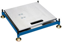 "Click for a larger picture of Intercomp Scale Pad Levelers, 15"" x 15"" Steel (set of 4)"