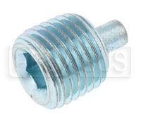 Click for a larger picture of Magnetic Plug, Hex Socket 1/4-18 NPT