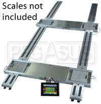Click for a larger picture of Intercomp 4000 lb Setup Rack, fits 15x2.5 Scale Pads