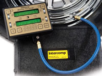 Click for a larger picture of Intercomp 100 psi Memory Air Pressure Gauge with Case