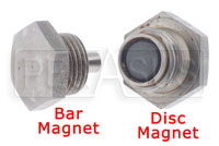Click for a larger picture of Magnetic Plug, Cap Screw Type  3/4-16