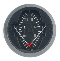 Click for a larger picture of Dual EGT Gauge, 2 1/16in, 500 - 2000F