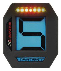 Click for a larger picture of Cartek Digital Gear Indicator with Sequential Shift Light
