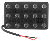 Click for a larger picture of Cartek FIA-Approved Steady LED Rain Light, Horizontal