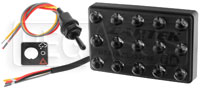 Click for a larger picture of Cartek F3 FIA-Approved 3-Mode LED Rain Light Kit, Horizontal