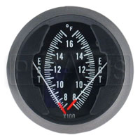 Click for a larger picture of Dual EGT Gauge, 2 1/16in, 700 - 1700F