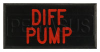 Click for a larger picture of Dash Badge Identification Plate (Differential Pump)