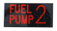 Click for a larger picture of Dash Badge Identification Plate (Fuel Pump 2)