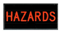 Click for a larger picture of Dash Badge Identification Plate (Hazards)