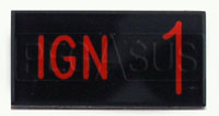Click for a larger picture of Dash Badge Identification Plate (Ign1)