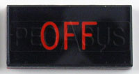 Click for a larger picture of Dash Badge Identification Plate (Off)