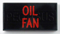 Click for a larger picture of Dash Badge Identification Plate (Oil Fan)