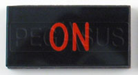Click for a larger picture of Dash Badge Identification Plate (On)