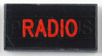 Click for a larger picture of Dash Badge Identification Plate (Radio)