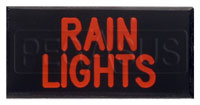 Click for a larger picture of Dash Badge Identification Plate (Rain Lights)