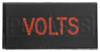 Click for a larger picture of Dash Badge Identification Plate (Volts)
