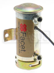 Click for a larger picture of Facet Low Pressure Cylindrical Fuel Pump - 1/8 NPT ports