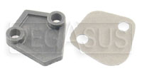 Click for a larger picture of Mechanical Pump Block-Off Plate with Gasket - ON SALE!