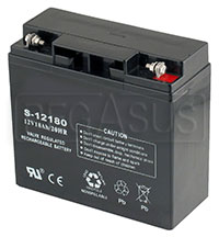 Click for a larger picture of (B) 18 AH Sealed Racing Battery