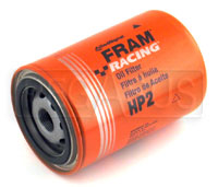 Click for a larger picture of Fram HP-2 High-Performance Oil Filter, 13/16-16, Small OD