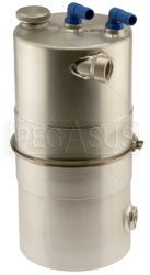 "Click for a larger picture of Lightweight EasyClean Oil Tank 8.25"" dia x 14"" High"