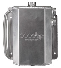 Click for a larger picture of Aluminum Catch Tank, Bulkhead Mount, -8 Female Ports, 2 L