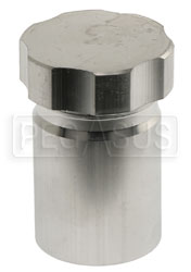 Click for a larger picture of OBP Weld-On Aluminum Filler Neck with Cap, 50mm OD