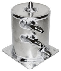 "Click for a larger picture of Fuel Scavenge Tank, 5.5"" High x 4"" Dia, Base Mount"