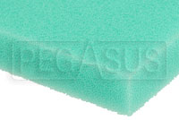 Click for a larger picture of Air Filter Foam Sheet, Green (65 PPI Fine), 12 x 16 x 5/8