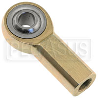 Click for a larger picture of 1/4-28 Female Rod End for Throttle Cable (loose)