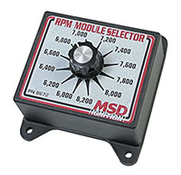 Click for a larger picture of MSD RPM Module Selector for Part #'s 1345 & 1321