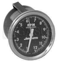 Click for a larger picture of Clearance Jones 3 inch Tachometer with Telltale