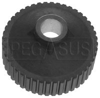 Click for a larger picture of Ford 1.6L Water Pump Pulley, 44 Tooth, 16mm Bore