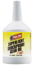 Click for a larger picture of Red Line Super Light Shockproof Gear Oil (Yellow)