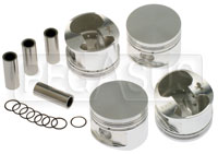 Click for a larger picture of 2 Liter Ford Forged CP Piston Set with Wrist Pins and Clips