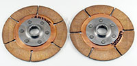 "Click for a larger picture of Tilton 5.5"" OT-3 Dual Clutch Discs, 1 std, 1 thn hub, 7/8x20"