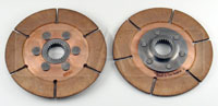 "Click for a larger picture of Tilton 5.5"" OT-3 Dual Clutch Disc Set, 1 x 23 Spline"