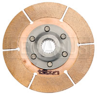 "Click for a larger picture of Tilton 5.5"" OT-3 Clutch Disc, Metallic, Ext Hub, 7/8 x 20"