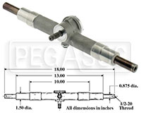 Click for a larger picture of Aluminum Steering Rack - Standard In-stock Version