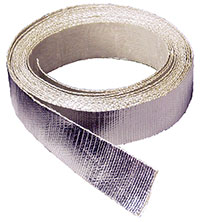 "Click for a larger picture of Self-Adhesive Aluminized Heat Barrier Tape, 1.5"" wide x 15'"